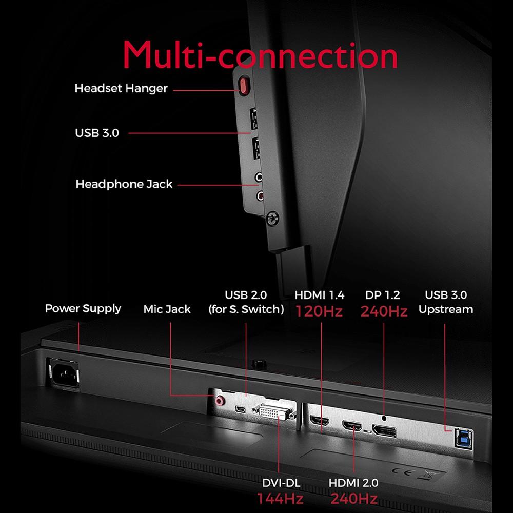 Màn hình chơi Game FPS BenQ ZOWIE XL2746S 240Hz 27 inch IPS 0.5ms DyAc™ eSports Gaming FPS (CSGO, PUBG, Valorant)