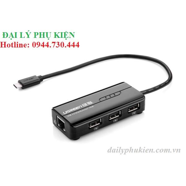 Cáp USB-C sang Lan + 3 cổng USB UGREEN 30289