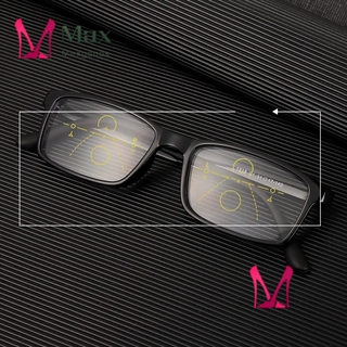 💋MAX Anti-fatigue Progressive Presbyopic Eyewear Anti-UV Multifocal Bifocal Eyeglasses Anti Blue Light Reading Glasses Men Women Fashion Anti-blue Rays Radiation Protection Retro Classic Computer Goggles/Multicolor