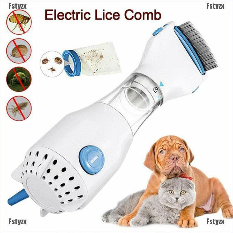 Fstyzx Electric Vacuum Head Lice Comb Pet Flea Filter Lice Killer Brush Safe Treatment