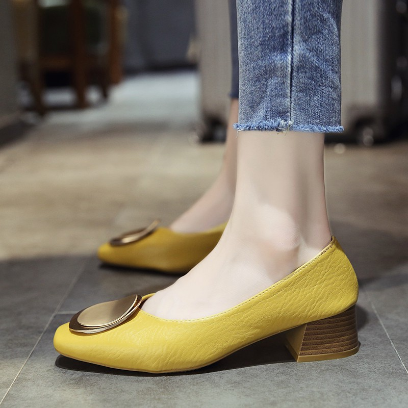 Comfortable shoes Autumn new style with thick single shoes women