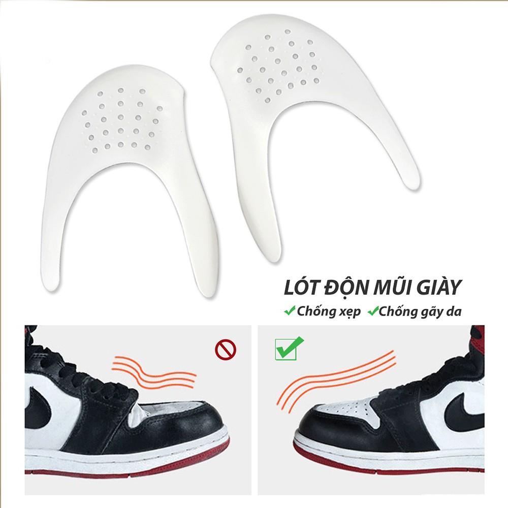 Miếng độn mũi giày chống nứt da, gãy xẹp và giữ dáng căng phồng nhựa mềm siêu bền - lót giày giá sỉ BuySales - PK58