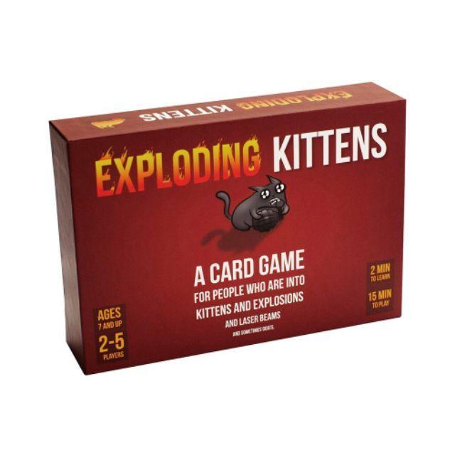 Mèo Nổ đỏ Exploding Kittens cơ bản hộp to bản chuẩn, chất liệu giấy đẹp