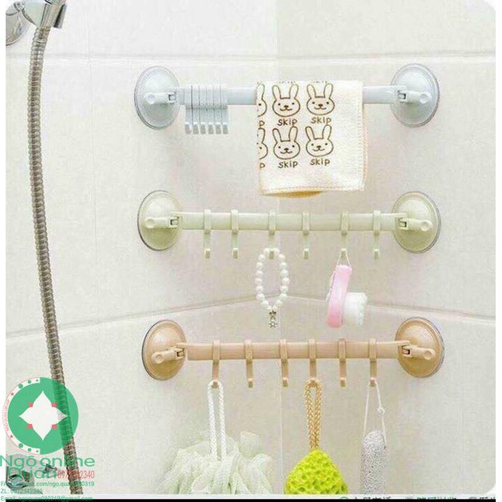 COMBO 03 Thanh treo nhà tắm kèm 6 móc
