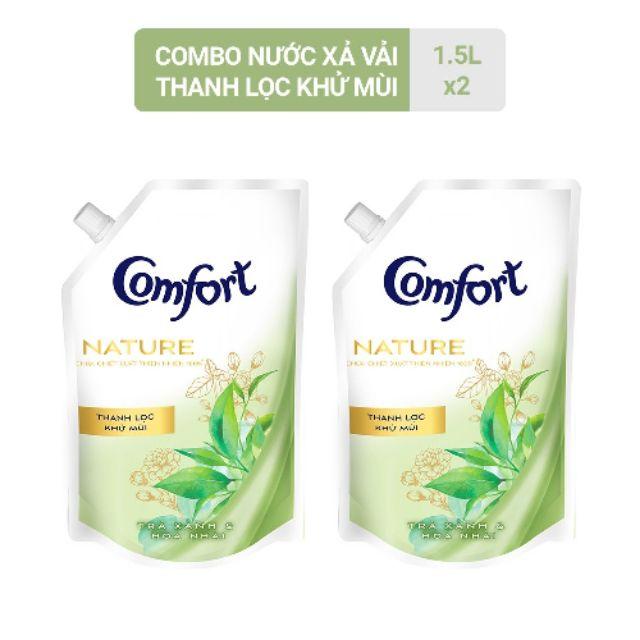 Bộ 2 túi Comfort Nature 1.5L nước xả vải