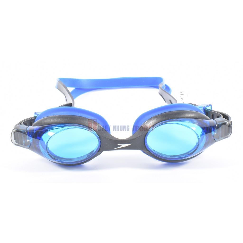 Kính bơi Speedo Aqua League trẻ em trên 3 tuổi (Đen pha xanh)