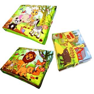 Bộ 3 sách vải Pipo chủ đề động vật