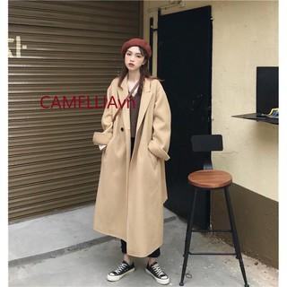 [ORDER] áo khoác dạ dáng dài lót bông ulzzang Hàn Quốc (Quảng Châu loại 1)