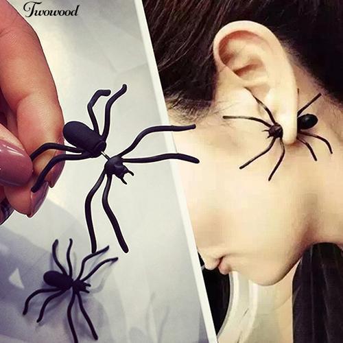 Hoa tai hình nhện màu đen phong cách Punk Bông Tai/Khuyên Tai