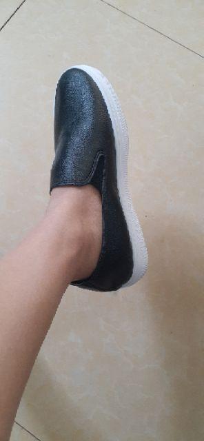 Giày lười da nữ phong cách thời trang năng động