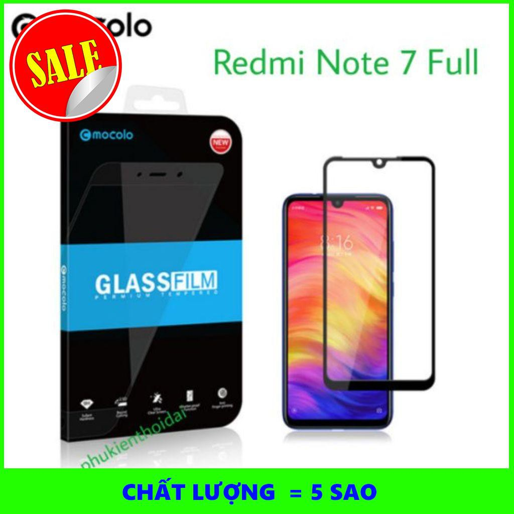 [5SAO]  Cường lực Xiaomi Redmi Note 7 hiệu Mocolo Full keo Full màn ôm viền cao cấp
