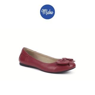 Giày búp bê nơ da thật Misho 1138