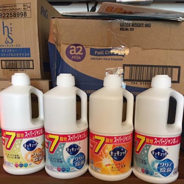 Nước rửa bát kyukyuto Kao nhật bản 1380ml - 3362438 , 716940382 , 322_716940382 , 135000 , Nuoc-rua-bat-kyukyuto-Kao-nhat-ban-1380ml-322_716940382 , shopee.vn , Nước rửa bát kyukyuto Kao nhật bản 1380ml