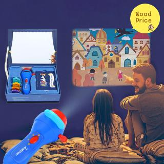 Baby Sleeping Story Projector Flashlight Star Lamp Children Illumination Toys Gift