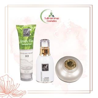 Bộ sản phẩm làm sạch sâu, ngăn ngừa mụn Acosmetics (Sữa rửa mặt Trà Xanh X2, Serum Spot Esence và Kem Face Pháp) thumbnail