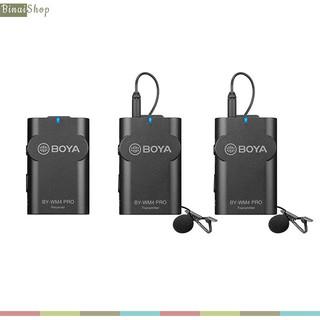 [Mã ELMSBC giảm 8% đơn 300K] Micro không dây cho điện thoại, máy ảnh Boya BY-WM4 Pro, Pro-K2