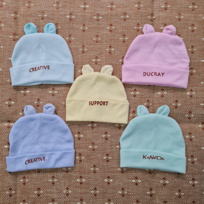 Mũ sơ sinh cotton cho bé trai bé gái