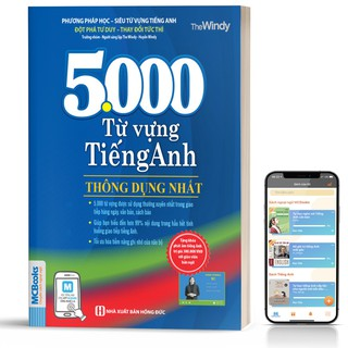 Sách - 5000 Từ Vựng Tiếng Anh Thông Dụng Nhất Dành Cho Người Học Cơ Bản - Học Kèm App Online