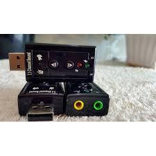 USB âm thanh SOUND 7.1  Cho Máy Tính Và Laptop - Có Nút Chỉnh Âm Lượng- Dành Cho Máy Tính Bị Hư Card Sound
