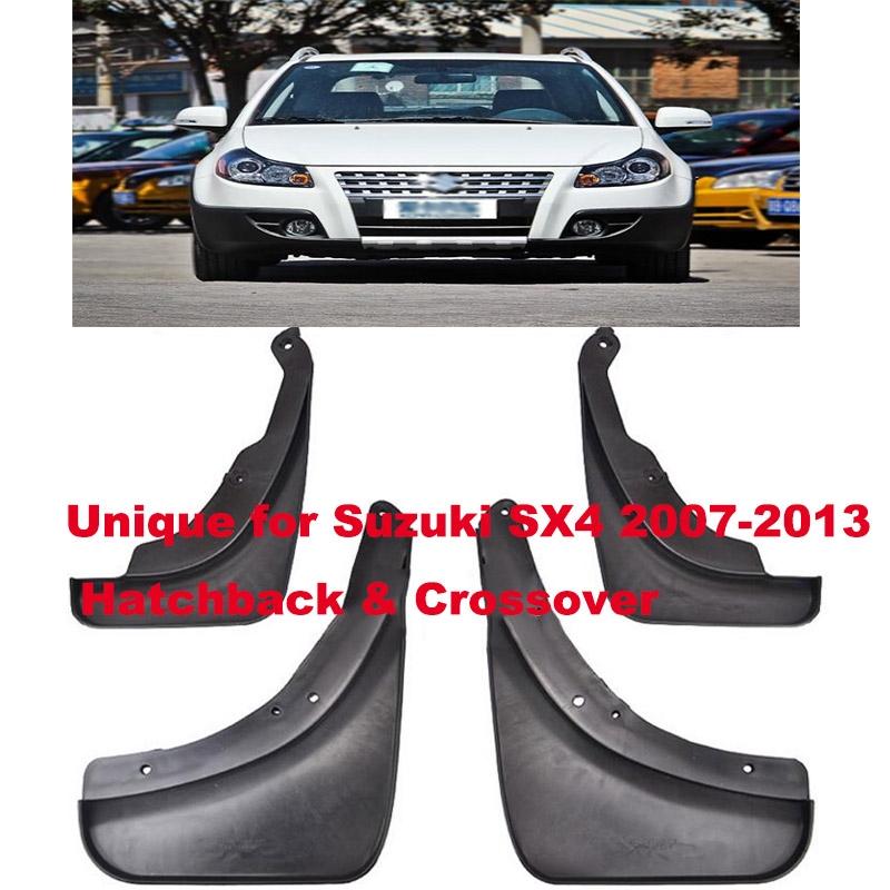 For Suzuki SX4 2007-2013 Hatchback & Crossover Car Front Rear Mud Flaps 4PCS