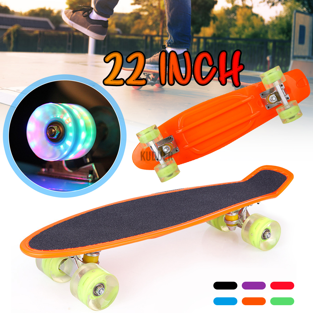 New 4-wheel flash wheel Cruiser Board plastic fishboard skateboard