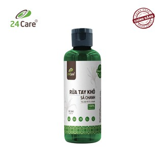 [DIỆT KHUẨN] Nước rửa tay khô tinh dầu Sả Chanh 24Care nguồn gốc thiên nhiên 100ML- diệt khuẩn 99,9%