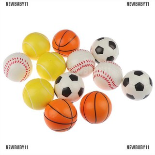 [NEWBABY11] 12pcs Stress Toy Balls Baseball Tennis Children Soft Foam Rubber squeeze Ball