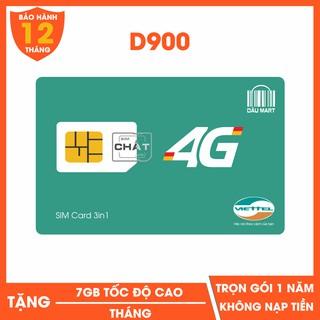 SIM 4G VIETTEL D900 TRỌN GÓI 1 NĂM (7GB/THÁNG)