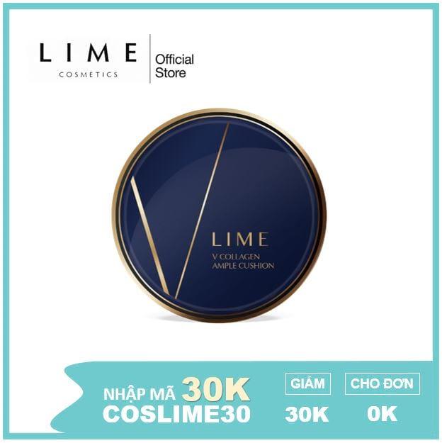 Phấn nước Lime V Collagen Ample Cushion SPF 50+/ PA+++ cho da khô (Hộp 1 lõi) 20g