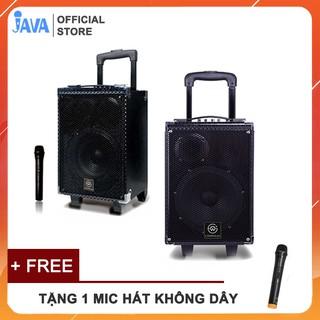 [ Bảng mạch xịn 5 núm nhiều chế độ] Loa Karaoke Thùng Bluetooth Kẹo Kéo- Công Suất Lớn-Chất Liệu Gỗ-Kết Nối Được Guitar