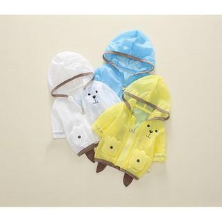 Áo khoác chống nắng , chống gió Poo hình dễ thương cho bé từ 7kg -33kg cho bé trai và bé gái