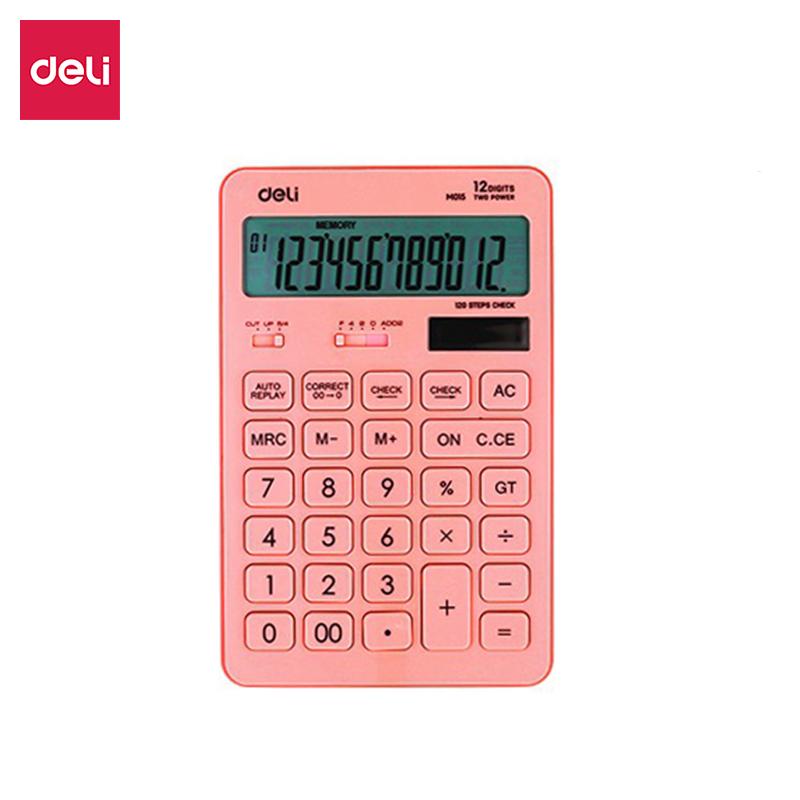 Máy tính bỏ túi DELI EM01541 thiết kế tiện lợi nhỏ gọn 12 chữ số