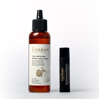 Combo Tinh chất bí đao sạch mụn cocoon 70ml + Son dưỡng dầu dừa Bến Tre cocoon 5g thumbnail