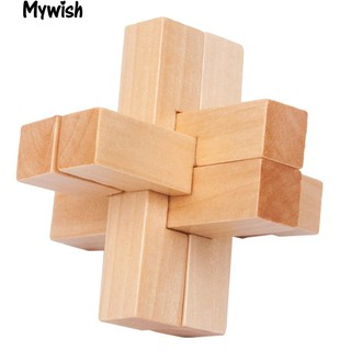 Wooden Block Luban Kong Ming Lock Brain Teaser Puzzle Educational Toy