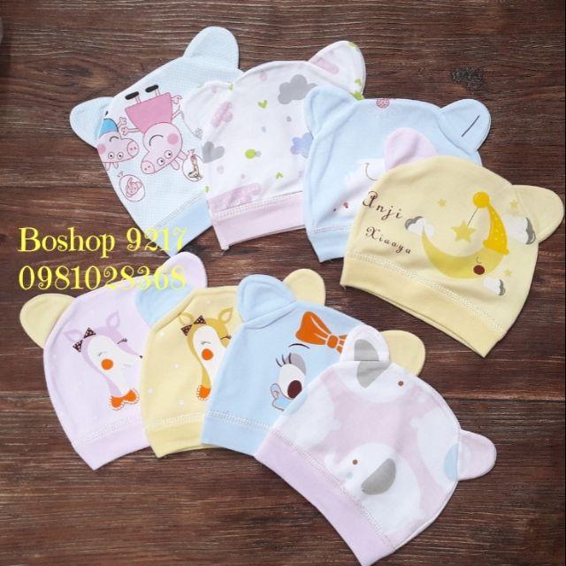 [HOT DEAL] đồ dùng sơ sinh cho bé - Mũ sơ sinh | Bán Chạy