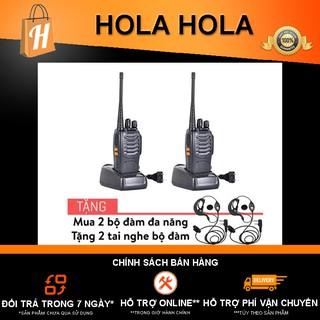 Cặp bộ đàm Baofeng 888s đa năng tặng 2 tai nghe bộ đàm - Bảo hành 3 tháng