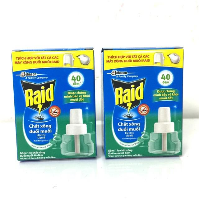 Combo 2 chai xông đuổi muỗi tinh dầu RAID (thương hiệu Mỹ) - 3605831 , 1188244298 , 322_1188244298 , 80000 , Combo-2-chai-xong-duoi-muoi-tinh-dau-RAID-thuong-hieu-My-322_1188244298 , shopee.vn , Combo 2 chai xông đuổi muỗi tinh dầu RAID (thương hiệu Mỹ)