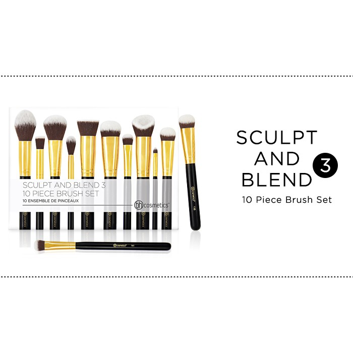 Bộ cọ BH Cosmetics - Sculpt and Blend 3 -