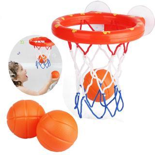 4Pcs Basketball hoop balls playset for boy girls bathtub shooting bath game