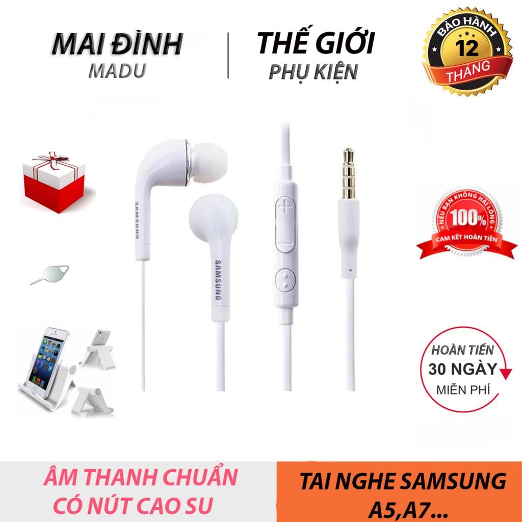 Tai nghe nhét tai [MADU] dành cho iPhone, Samsung, Oppo, Xiaomi, có Micro đàm thoại [Tặng ghế xem phim cao cấp]