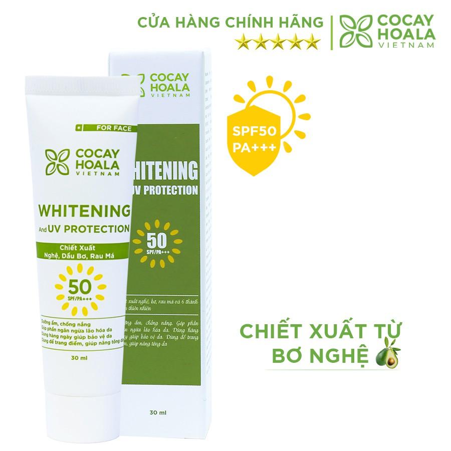 Kem chống nắng bảo vệ, kiềm dầu, dưỡng da se mịn lỗ chân lông, chống ô nhiễm Nghệ Bơ Cocayhoala SPF50/PA+++ 30ml
