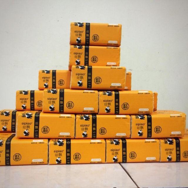Thùng 30 gói khăn giấy Gấu Trúc Sipiao