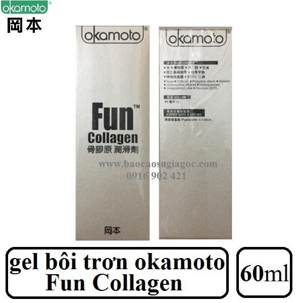 Gel bôi trơn Okamoto Fun Collagen 60ml