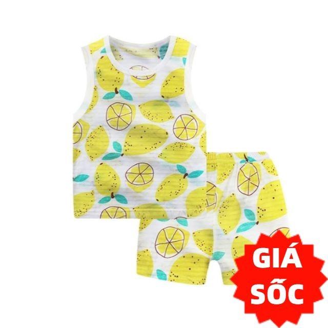 Bộ quần áo trẻ em ba lỗ cotton tre QATE247 cho bé sơ sinh đến 16kg