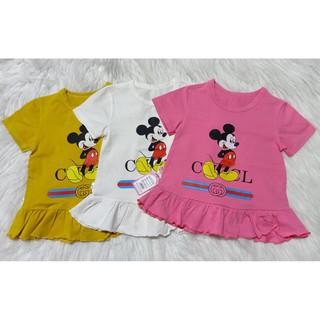 Áo phông cộc tay cho bé 💖 Áo cotton in hình chuột Mickey cho bé gái 💖 Quần áo trẻ em