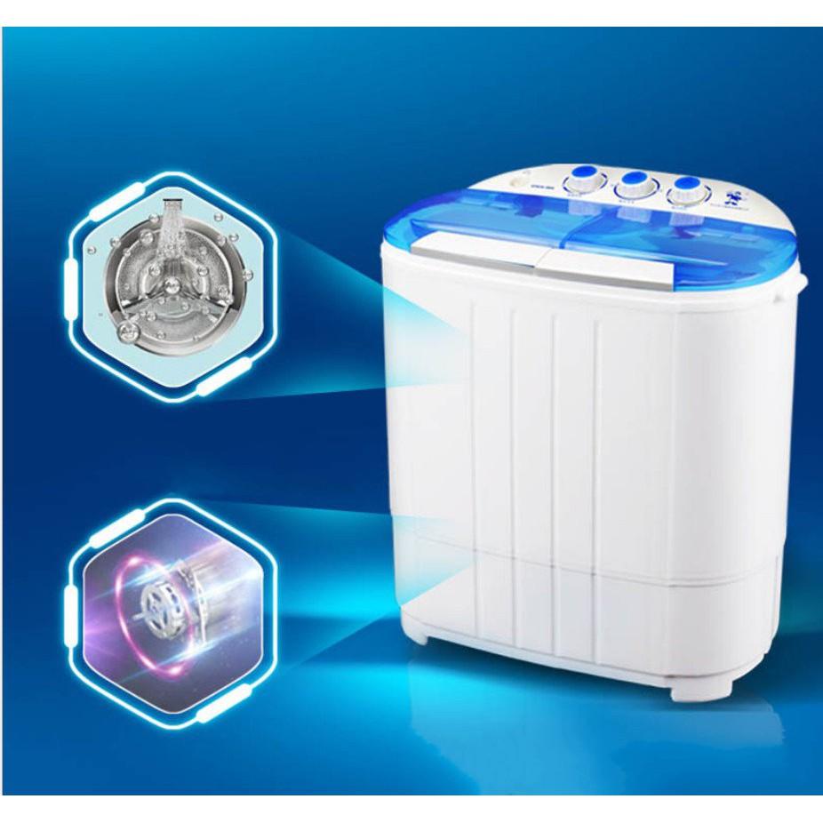 [ELHAT1TR giảm tối đa 1 triệu] Máy giặt mini 2 lồng giặt (chế độ ngâm, xả, vắt có tia UV diệt khuẩn) - The Royal's