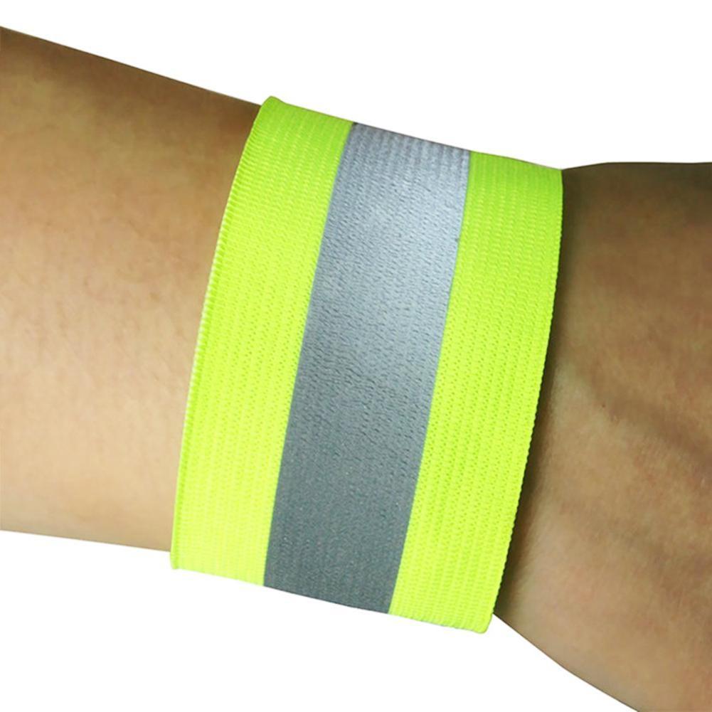 Băng phản quang đeo chân / tay cảnh báo an toàn khi chạy xe đạp/xe máy