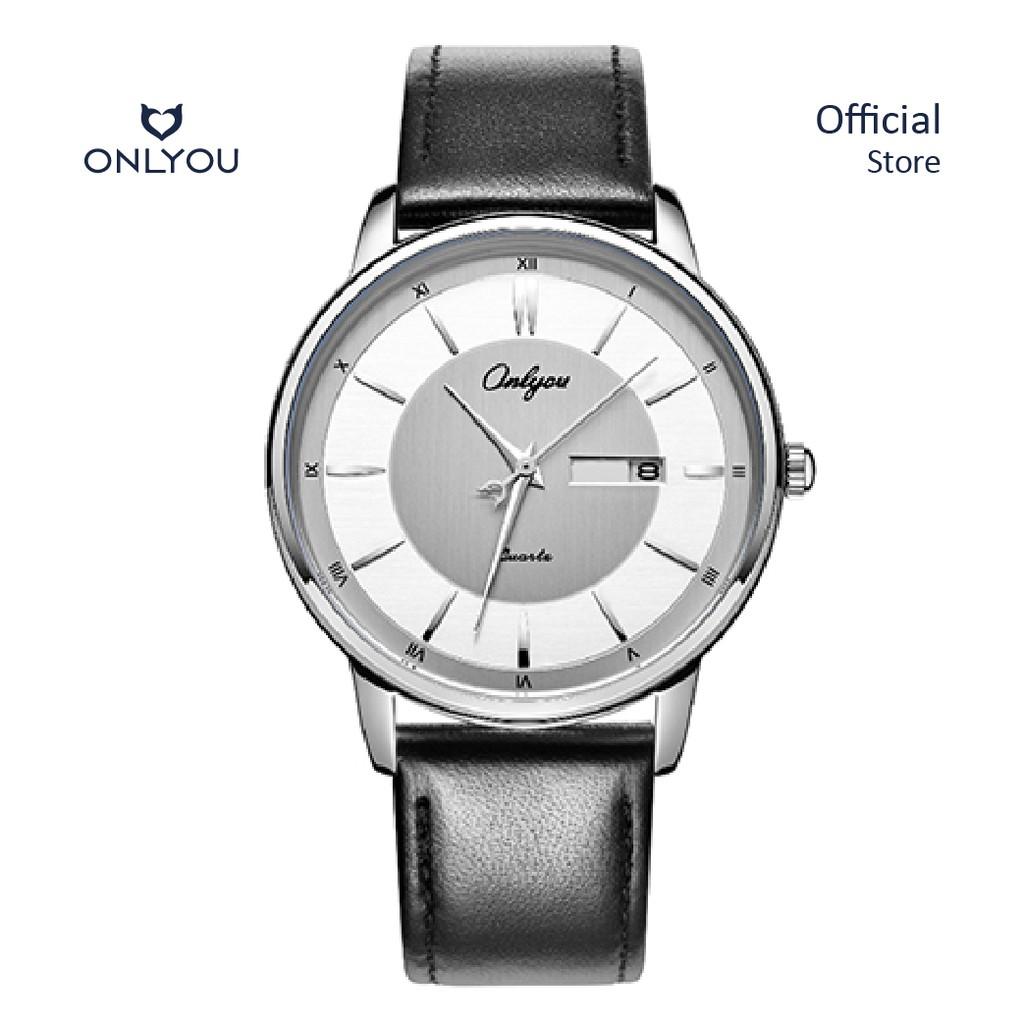 Đồng hồ Onlyou Nam 328005GD Dây da 40mm