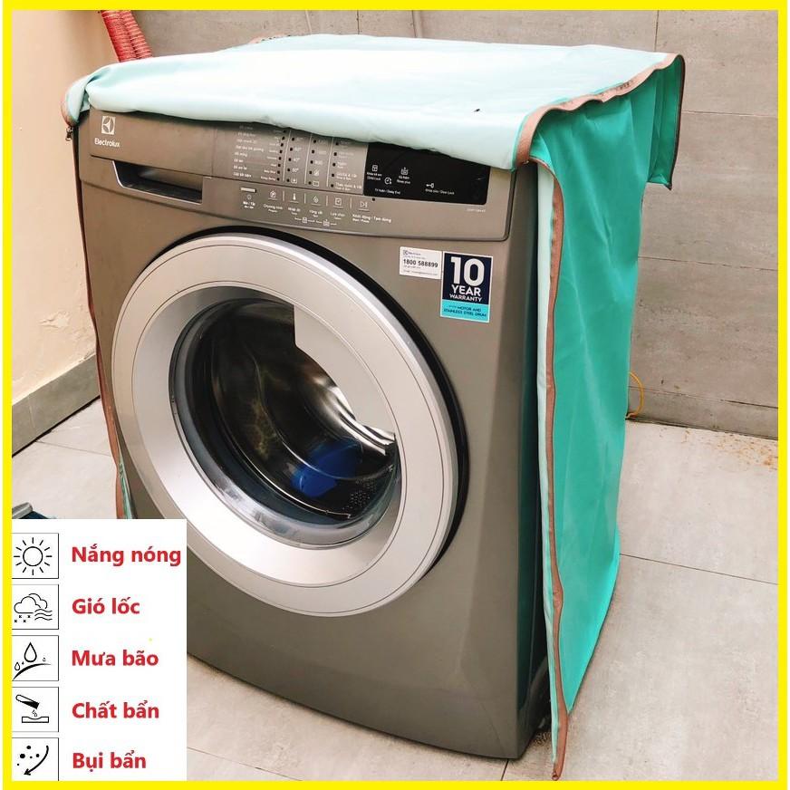 Áo Trùm Máy Giặt Cửa Trước Cửa Ngang Vải Dù Siêu Bền Chống Mưa Nắng Nóng Từ 7kg đến 14kg