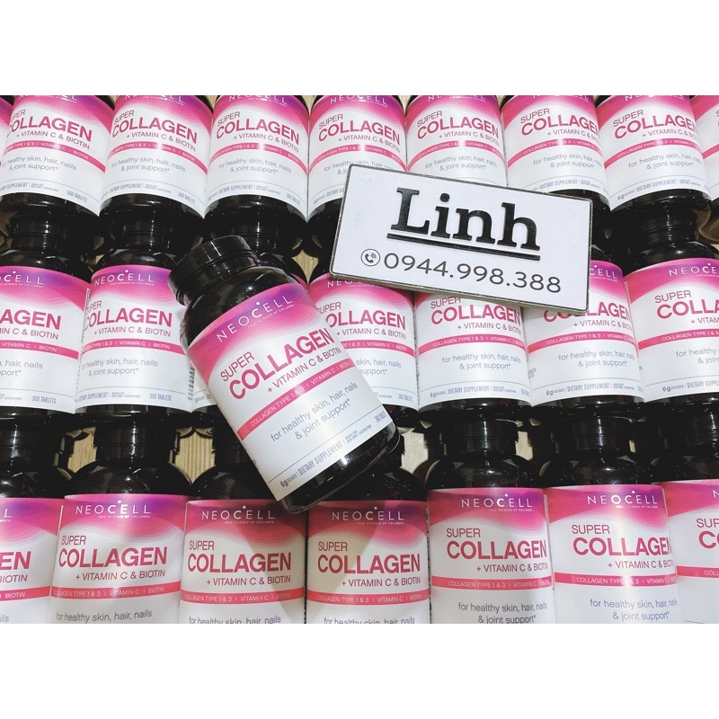 Viên Uống Super Collagen Neocell +C 6000 Mg type 1 - 3 Neocell 360 viên thumbnail